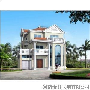 三层别墅设计图纸 自建房设计图 建筑设计施工图 13.3米x14.6米