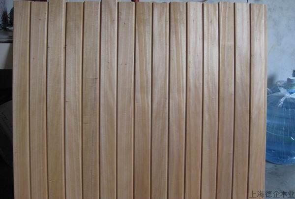 原木板材桑拿板 红樱桃墙身板高清图片
