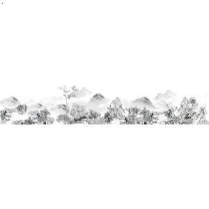 长安八景手绘图-草堂烟雾