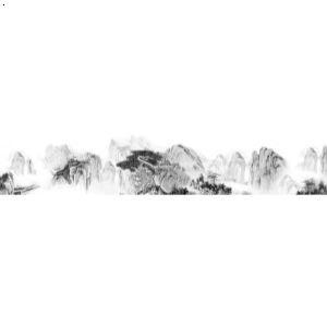 长安八景手绘图-华山仙掌