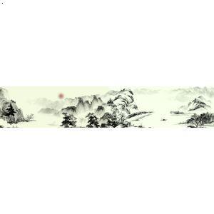 【长安八景手绘图-骊山晚照】厂家,价格,图片_西安室