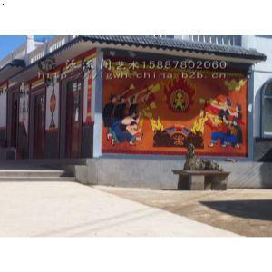 贵州彝族园手绘壁画