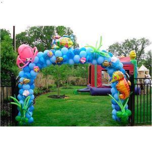 卡通气球拱门