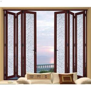 大折疊門推拉門陽臺鋼化玻璃隔斷門客廳鋁鎂鈦合金室內吊趟門窗