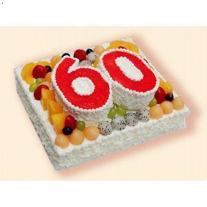 【六十大寿双层】厂家,价格,图片_保定甜心岛蛋糕鲜花