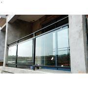 玻璃阳台护栏,夹玻璃阳台栏杆,双钢夹胶玻璃护栏