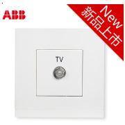 【ABB插座】由悦系列/白色/一位/宽频电视插座-AG30344-WW