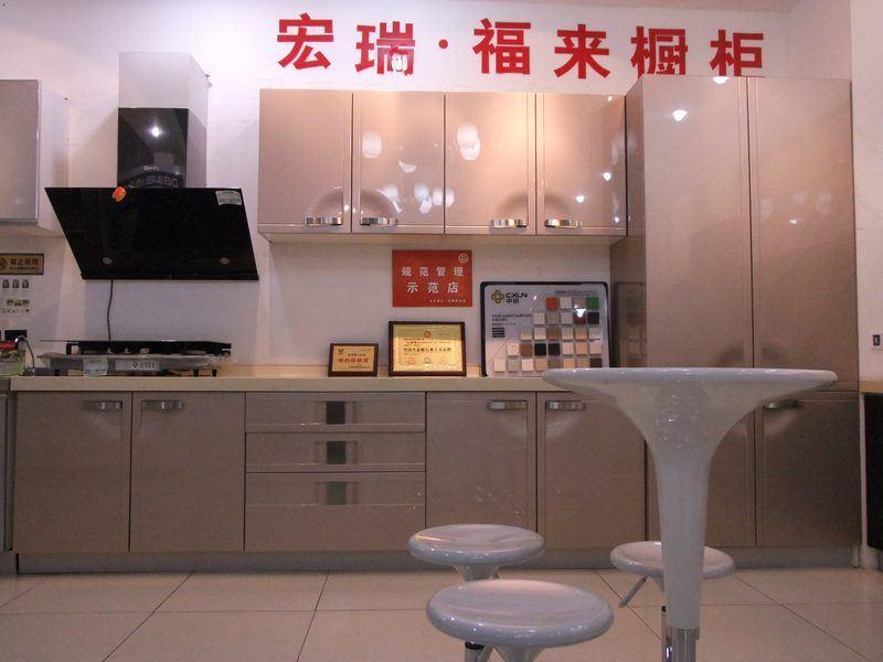大信欧式吸塑橱柜+石英石+烟机+灶台+水槽【图片