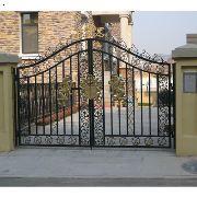 济南天鸿大军铁艺大门 不锈钢电动大门,不锈钢庭院大门