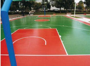 硅PU篮球场地面JL-100