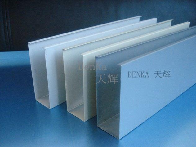白色铝方通弧形铝包