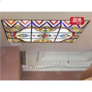 【欧式教堂彩绘玻璃 彩绘玻璃穹顶】厂家