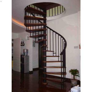 中柱旋转楼梯-上海楼梯,上海木楼梯,上海实木楼梯,上海玻璃楼梯,上海