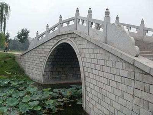 甘肃汉白玉石栏杆护栏