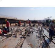 湖南长沙湘府东路跨京港澳高速桥梁绳锯切割拆除