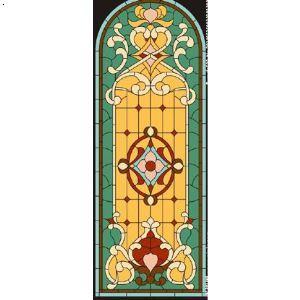 欧式窗花,教堂彩色玻璃