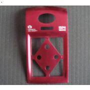 青岛铝氧化|冲压阳极红色丝印