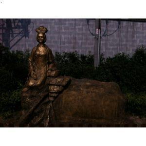 邛崃翁亭公园卓文君雕塑