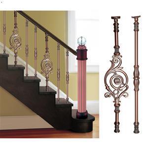 艺树家铝艺楼梯扶手组装精品铝镁合金欧式楼