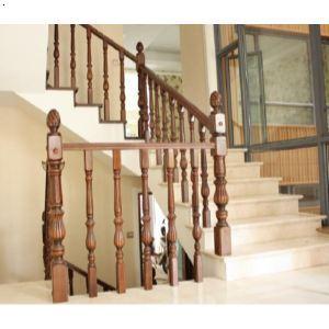 武汉实木楼梯湖北扶手护栏踏步别墅复式楼木楼梯