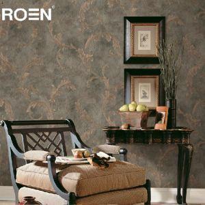 欧式大气设计茛苕叶客厅背景墙丝绸刻花压纹墙纸