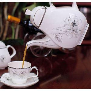 15头骨质瓷咖啡具 伊丽莎白