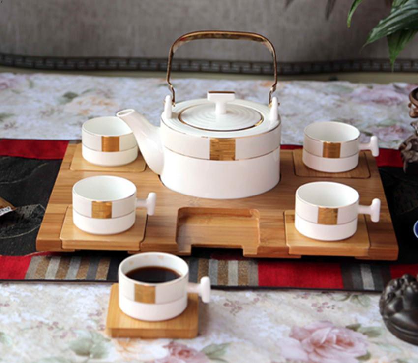 骨瓷提梁茶具5头雅仕