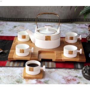 骨瓷提梁茶具 5头雅仕轩