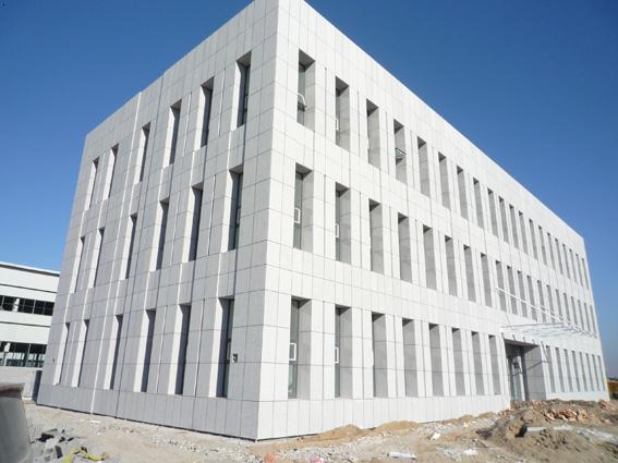 干挂石材幕墙轻钢雨棚玻璃幕墙外地工程