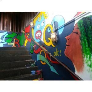 冰城串吧北京簋街店墙绘|石家庄墙体彩绘|石家庄彩绘