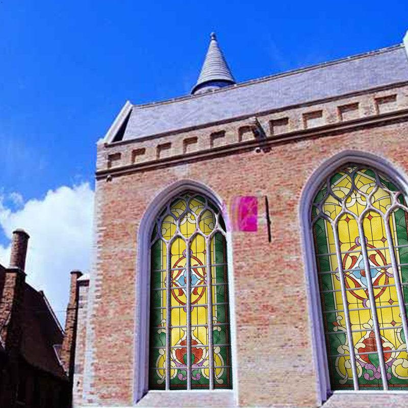 独一处背景玻璃|教堂玻璃|教堂窗户|教堂吊顶|欧式古典装饰-jt025