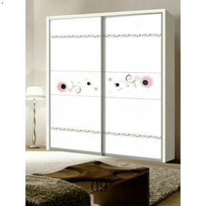 [yg-唯梦]雕刻镶嵌工艺板材配20仿钢插镜边框板材系列衣柜门