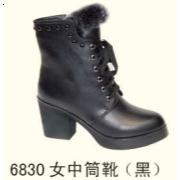 6830女中筒靴 黑