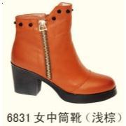 6831女中筒靴 浅棕