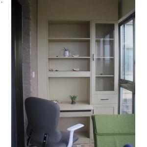 产品首页 家居用品 卧室家具 衣柜 暖白玻璃拼框阳台书柜,长沙家具
