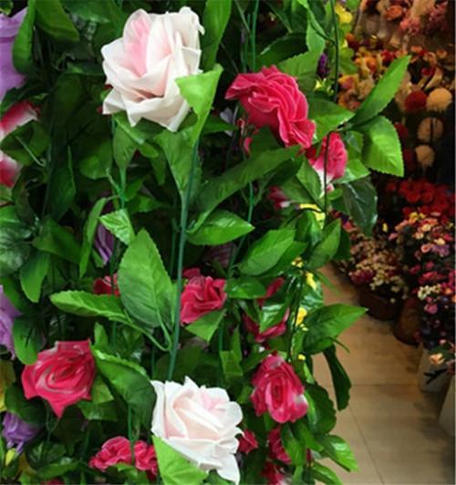 3米,九朵玫瑰花头,花的直径约8cm.