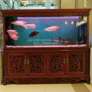 实木中式鱼缸|大型鱼缸|南京大型鱼缸设计|南京鱼缸定做|墙内鱼缸