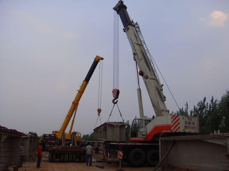 100吨和70吨装梁