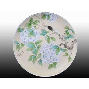 手绘盘子|唐山市开平区异众骨质瓷厂