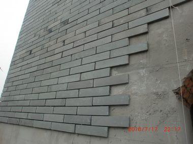 灰色别墅外墙砖效果图