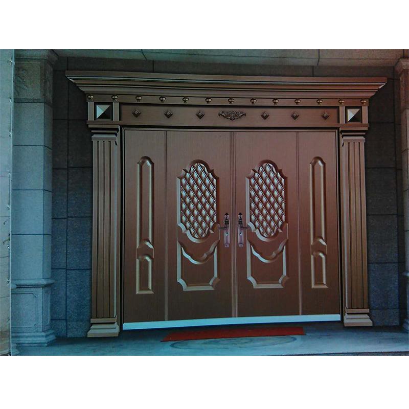 湖南锌合金仿铜门 fj-9001|湖南别墅大门|湖南铜门厂家订做|长沙铜门