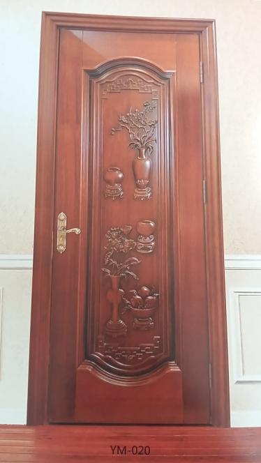 悠美家木业原木雕刻贵族门欧式雕刻门ym-020|悠美家