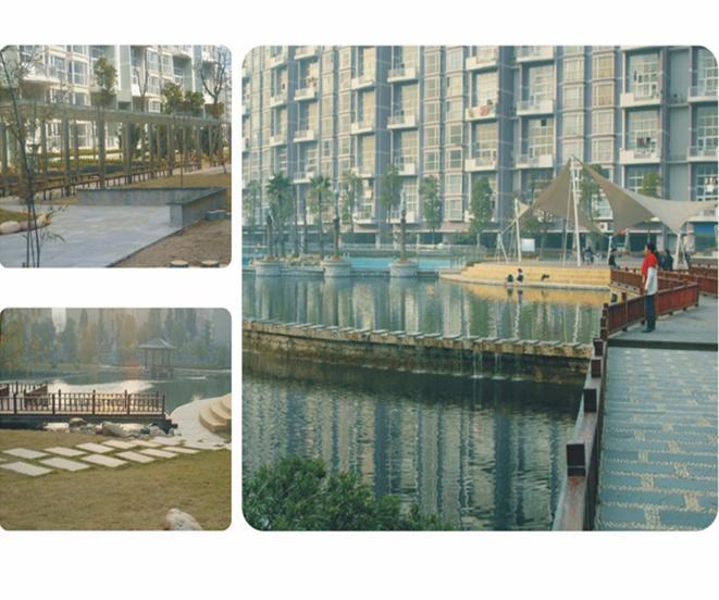 归心苑幼儿园室外环境景观工程,郴州市爱莲湖绿化工程,长沙烟叶科研综
