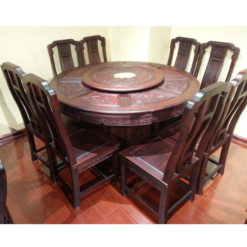 国色天香圆餐桌
