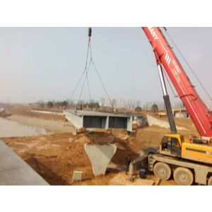 130吨梅溪湖八路景观桥架