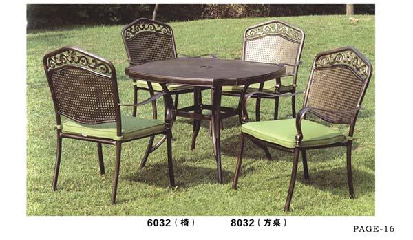 云南户外桌椅-铸铝桌