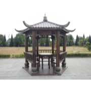 青岛防腐木景观凉亭制作 木质仿古凉亭生产安装