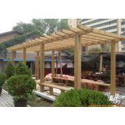 青岛防腐木廊架批发 木花架生产安装 木葡萄架