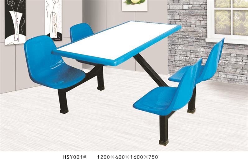 HSY001四人连体餐桌椅、四川餐桌