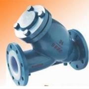SG41F46 衬氟过滤器 铸钢法兰Y型过滤器  厂家批发